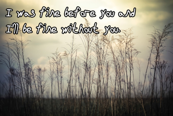 I Was Fine Before You