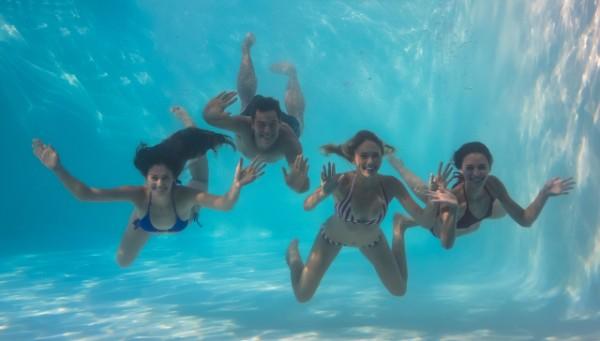 racing underwater