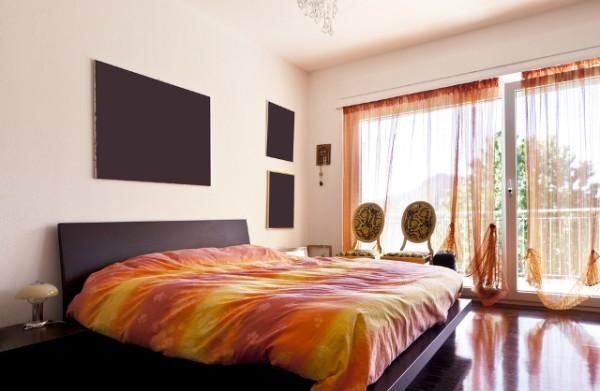Black and Orange Theme Bedroom Design