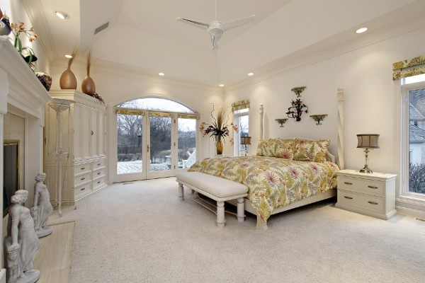 Stunning White and Gold Large Bedroom