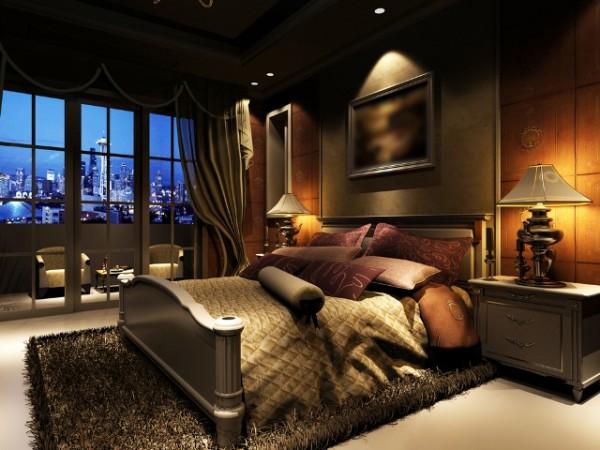 Dark Color Beautiful Bedroom