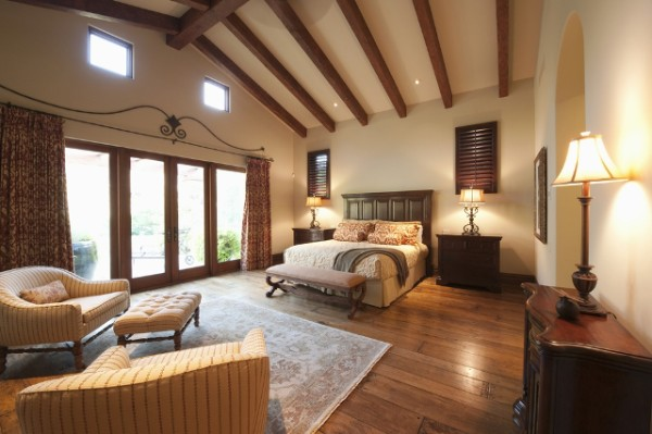 Large Gorgeous Bedroom Brown Theme