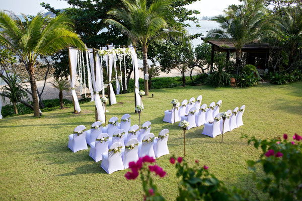 green grass wedding ceremony