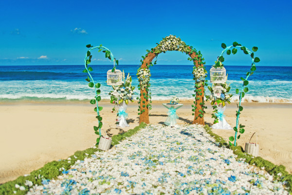 turquoise beautiful wedding ceremony