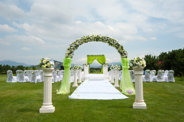 park green wedding ceremony