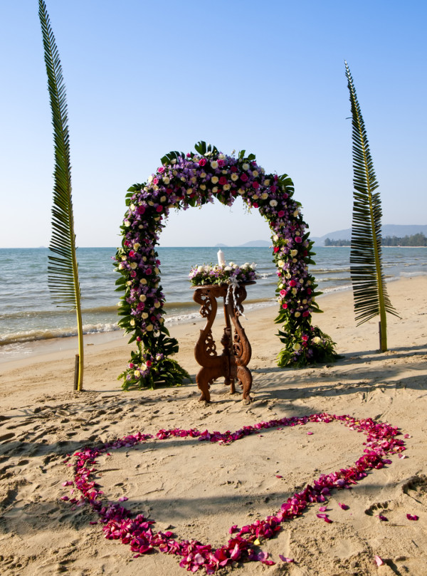ceremony on the sand