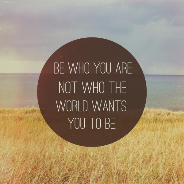 be who you are quote