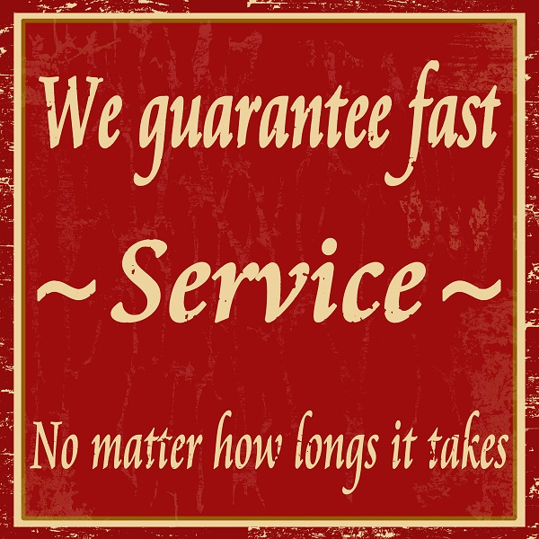 Fast Service sign