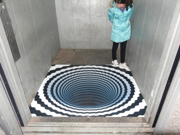 Scary 3D Optical Illusion