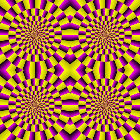 Moving Circles Optical Illusion