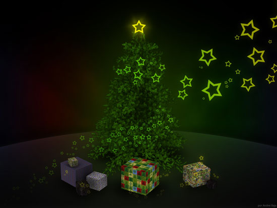 green star christmas tree