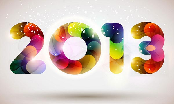 colourful wish newyear picture