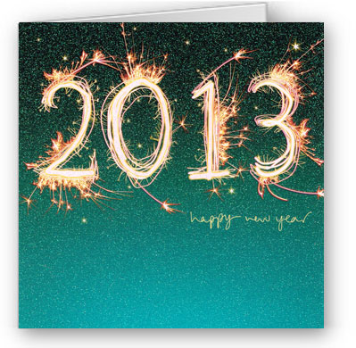 colourful new year card